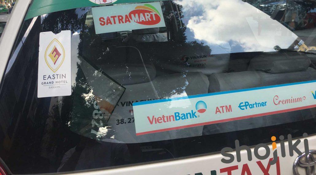 Sticker kính sau xe - hãng xe Vinasun