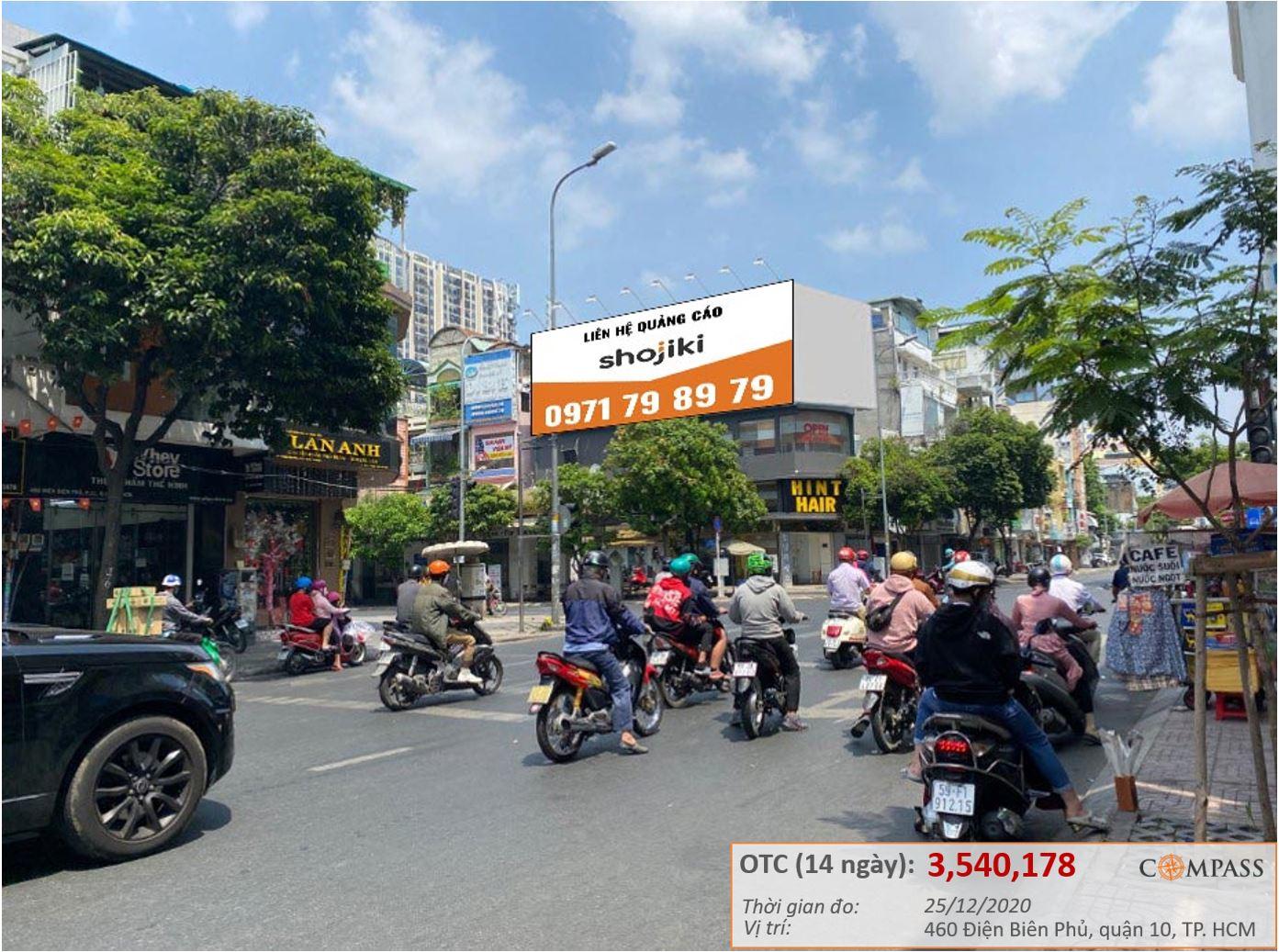 bảng quảng cáo ngã tư Cao Thắng