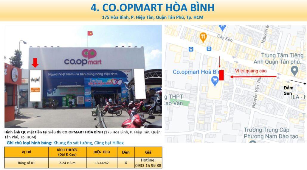 bảng quảng cáo Coopmart hòa bình