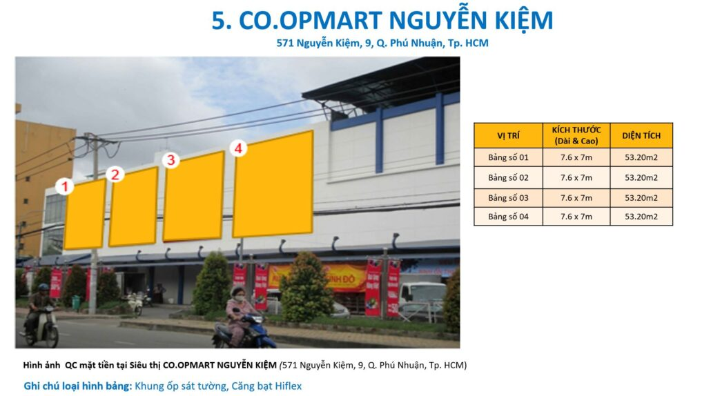 các bảng quảng cáo tại coopmart