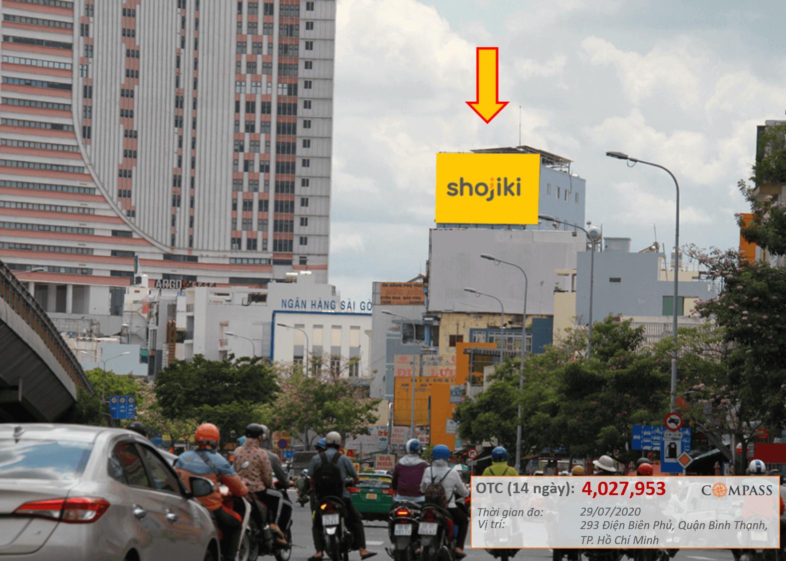 Bảng quảng cáo 293 Điện Biên Phủ, Bình Thạnh