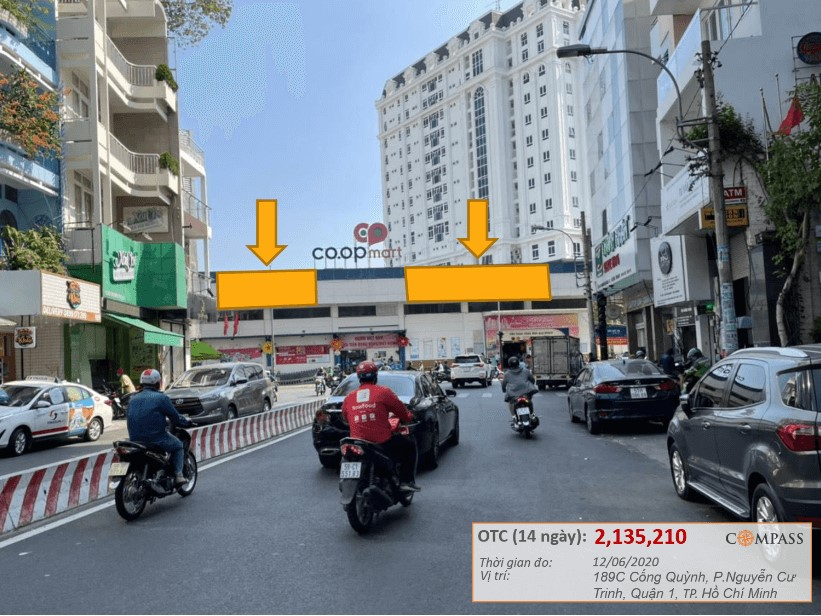 Bảng quảng cáo Coopmart Cống Quỳnh