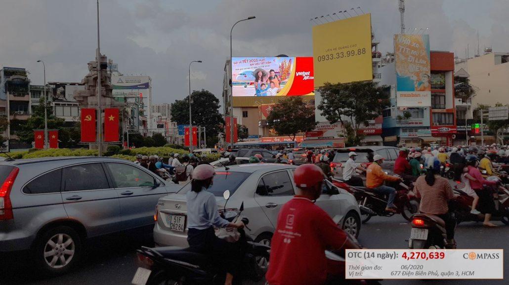 quảng cáo led ngoài trời ngã 7 Lý Thái Tổ, quận 3 Hồ Chí Minh
