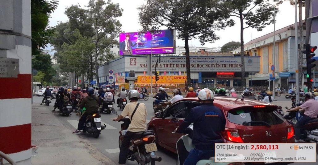 Quảng cáo led ngoài trời ngã tư Nguyễn Tri Phương và Hùng Vương