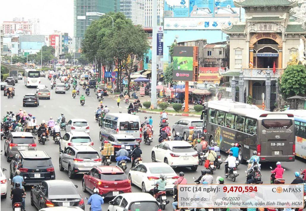 quảng cáo nhãn hàng Dược OPC tại Led vòng xoay Hàng Xanh, Bình Thạnh