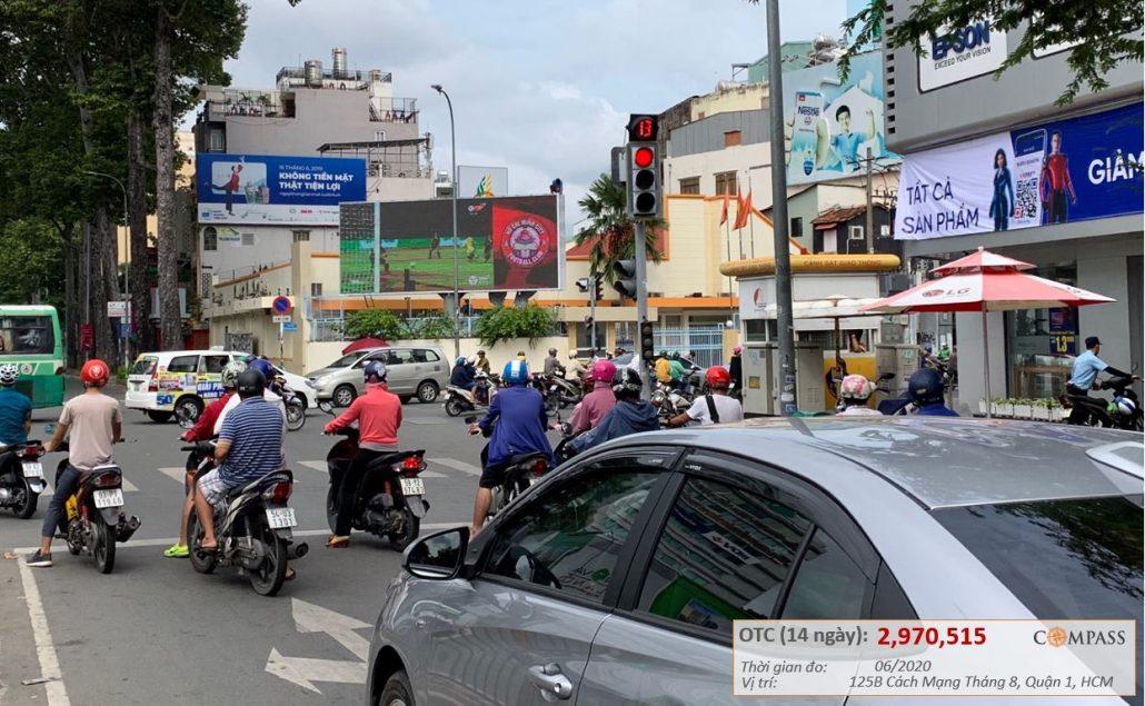 Quảng cáo led ngoài trời 125B cách mạng tháng 8