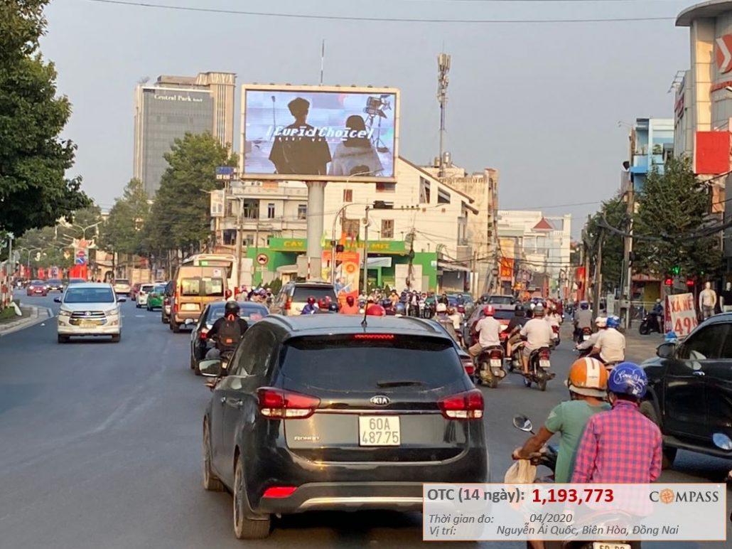 Màn hình LED Nguyễn Ái Quốc, Biên Hòa, Đồng Nai (Vườn Mít)