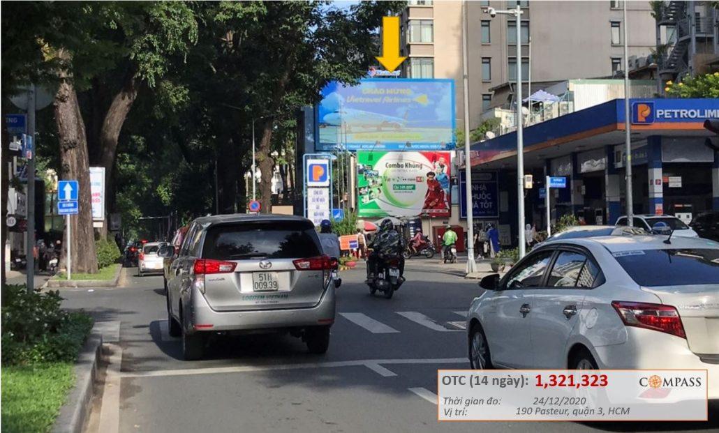 quảng cáo led ngoài trời 190 Pasteur, quận 3, HCM