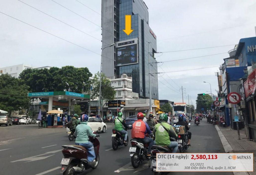 quảng cáo màn hình led robot tower 308 Điện Biên Phủ