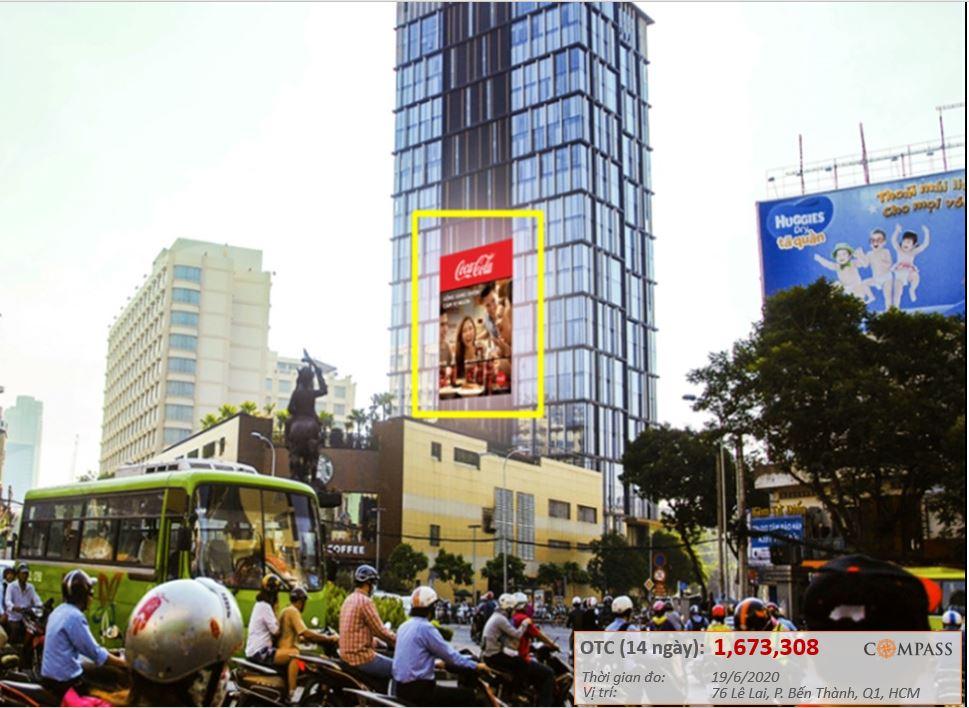 Quảng cáo LED ngoài trời tòa nhà AB, 76 Lê Lai
