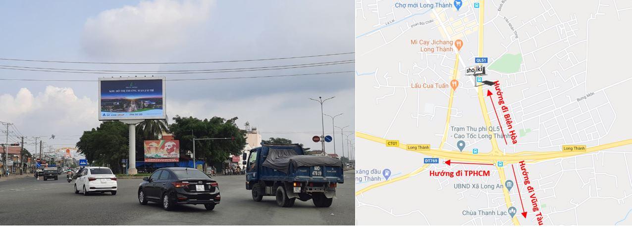 vị trí màn hình LED Long Thành, quốc lộ 51, Đồng Nai