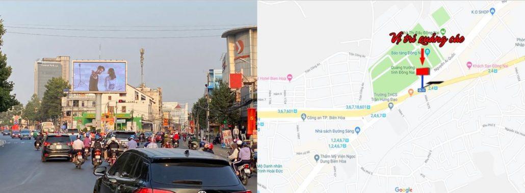 vị trí quảng cáo màn hình led Nguyễn Ái Quốc, Đồng Nai, ngã 3 vườn mít