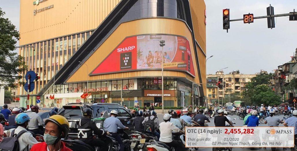quảng cáo led ngoài trời Vincom Phạm Ngọc Thạch Hà Nội