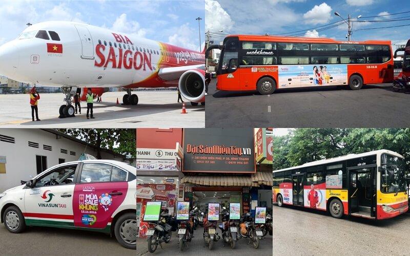 quảng cáo trên phương tiện di chuyển