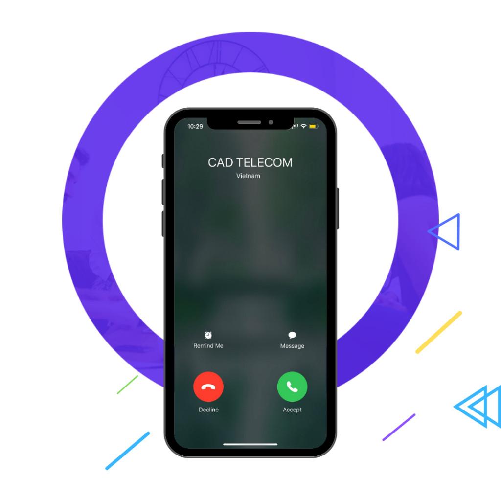 tên doanh nghiệp trên điện thoại khách hàng