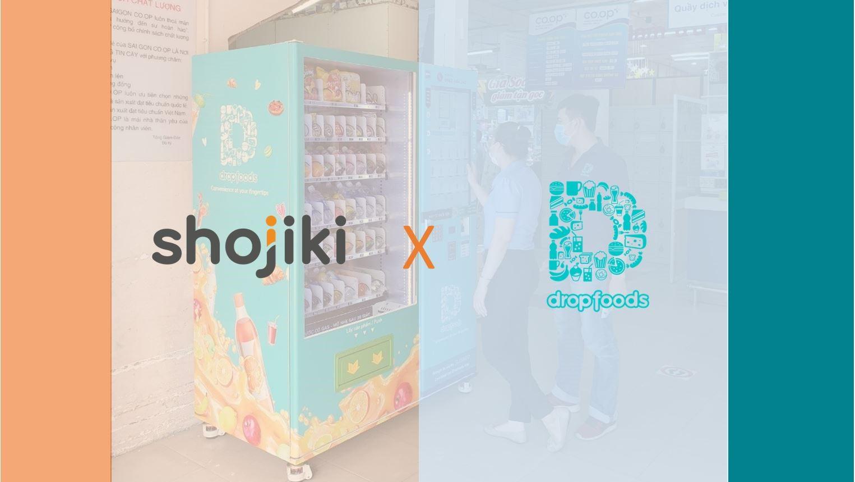 shojiki hợp tác với droptfood khai thác dịch vụ quảng cáo trên máy bán hàng