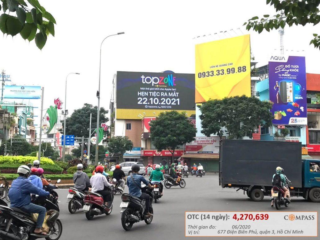 quảng cáo led vòng xoay Lý Thái Tổ, Điện Biên Phủ, quận 3
