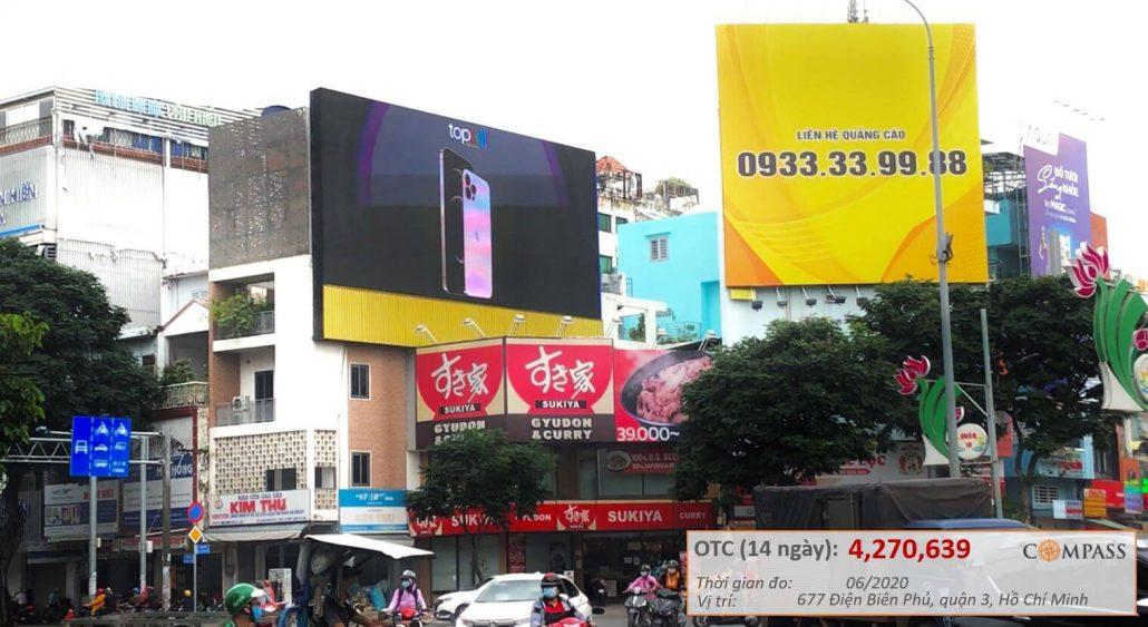 quảng cáo màn hình led 677 điện biên phủ